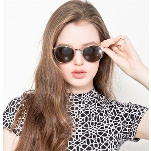 Quay Australia Bailey Gold Frame Brown Sunglasses